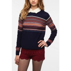 UO Pins and Needles Reverse Fair Isle Sweater